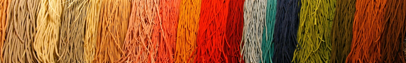 yarns in a range of brilliant colors